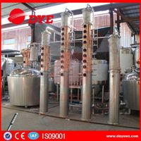 Gin vodka whiskey fruit brandy alcohol distillation equipment