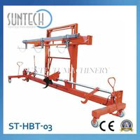 Hydraulic Twin Warp Beam Lift Trolley with harness mounting device