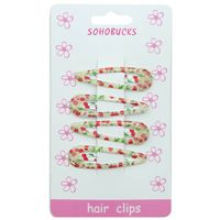 Cherry Printed Snap Hair Clip with Epoxy for  Toddlers 1272