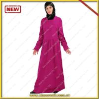 2014 Newest muslim women abaya made of 100% sandwash cotton  KDT - 1014