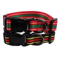 Dog training collar: polyester webbing heat transfer printed logo-QQPETS