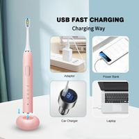 Wireless Charging Sound Wave Type Electric Toothbrush with FDA Certification thumbnail image