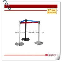 Stackable Retractable Belt Stanchions Comes With Cast Iron Flat Base thumbnail image