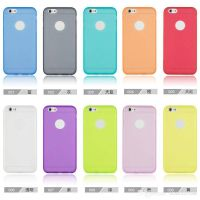 2015 Ultra slim Transparent PC mobile phone case for iphone6 easy total 10 colors wholsale