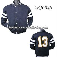 original authentic style long sleeve Rib cuffs and collar mens baseball jackets