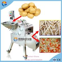 Automatic Vegetable and Fruit Cube Cutting Machine