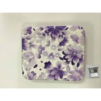 PU Purple Flowers Printing Cosmetic Mirror LFM6234