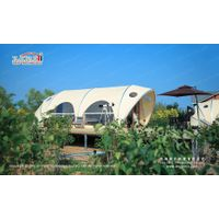 Outdoor Waterproof Aluminium Frame Shell Shape Luxury Glamping Tent for Sale