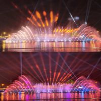 Saudi Arabia Large Artificial Pool Music Dancing Water Fountain Project With DMX 512 LED Lights thumbnail image