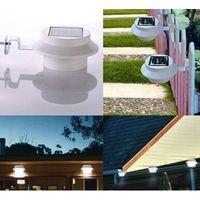 LED Solar Light Wall Lamp Waterproof Garden Light Outdoor Landscape Lawn Lamp 3 LED Fence Gutter Sol thumbnail image