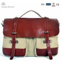 Men latest design plain canvas messenger bag strong canvas messenger bag thumbnail image