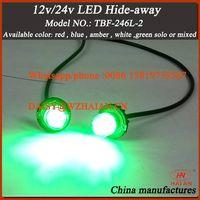 Auto Safety Traffic LED Light Hide-a-Way Warning Light (HA246L6-2)