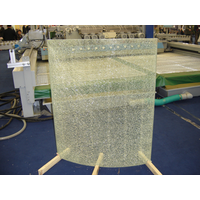 decorative crackle glass triple layers with middle layer being tempered glass