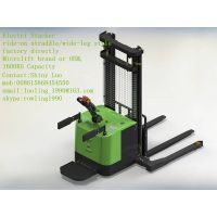 straddle/wide-leg Electric Stacker, 1400KG capacity, Microlift brand or OEM, factory direclty thumbnail image