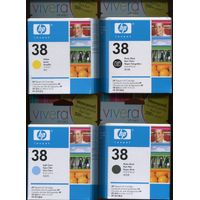 HP 38 Ink Catridges Sealed Package Black,Yellow,Light Cyan....$1 USD