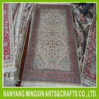 high quality competitive price hand tufted artificial silk carpet