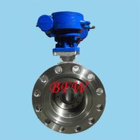 Cast steel butterfly valve