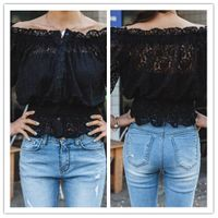 New wholesale blouse, women lace sexy blouse long sleeves