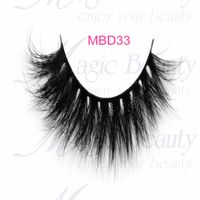 Siberian fluffy 3d mink lashes MBD33 from Magic Beauty Lashes