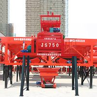 forced twin shaft horizontal concrete mixer machine with pump prices for sale