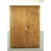 Wood insulated fire door