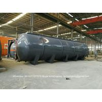 120CBM Horizontal HCL Acid Tank Steel Lined LDPE For Storage Bleach, Hydrochloric Acid,
