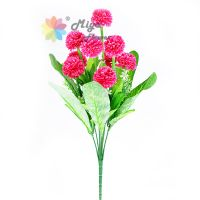 9 branches decorative artificial silk flower Ball Chrysanthemum