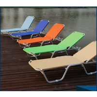 High-end outdoor folding beach bed aluminum leisure  sun bedCY - 0195 thumbnail image