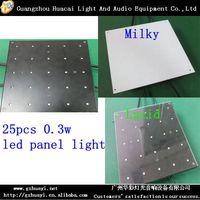 indoor decoration light 25PCS 0.3W RGB 3in1 led panel light