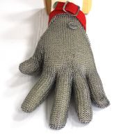 Finger safe Butcher Safety Cut Proof Stab Resistant Stainless Steel Metal Mesh Wire Gloves thumbnail image