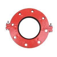 FM/UL/CE/3C Approved Ductile Iron Grooved Fittings Flange
