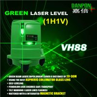 GREEN CROSS LINES LASER LEVEL WITH MAGNETIC BRACKET
