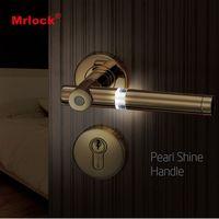 Electronic light night shiny design door handle mortise lock N1-102
