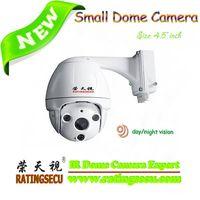 Analog 60m Waterproof Mini IR PTZ Camera