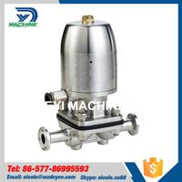 SS304 Pneumatic Tri Clamped Diaphragm Valve