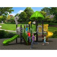 Children outdoor playground plastic slide equipment thumbnail image