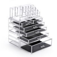 Acrylic Make Up Organizer 5 Drawers Large Compartment Beauty Cosmetic Holder Organizer