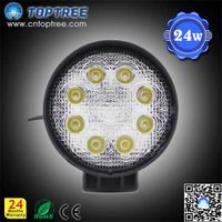"4"" 27W 9-32V Round LED Work Light,hot sale"