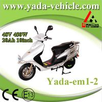 48v 450w 20ah 10inch drum brake sport style electric scooter motorcycle (yada em1-2)