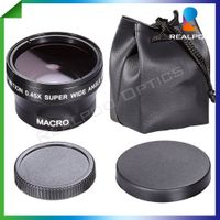 37mm 0.45x wide angle lens for Canon or Nikon