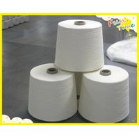 30s-50s polyester spun yarn for weaving in raw white