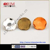 Brass snap 15MM&17MM HVB Orange copper/HVB Nickle/HVB Anti-brass irregular fashion metal button