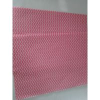Red mesh waved wood pulp laminated spunlace nonwoven fabric