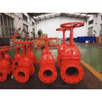 Ductile iron rubber wedge gate valve AWWA C515 UL FM