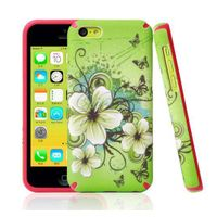 Beautiful high quality tpu+pc 3d sublimation phone case for iphone 5c