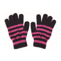 Various STRIPE Pattern Premium Lamb Wool Gloves 5 Conductive Fingertips Various colors