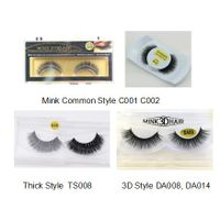 Wholesale and Customer Logo Handmade 3D Strip Mink Lashes Thick Articial Eyelashes
