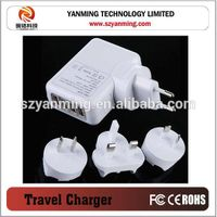 4 port usb wall charger for mobile phone