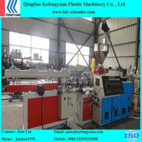 PVC single wall corrugated pipe machine with conical twin screw extruder