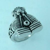 harley motor cycle biker skull masonic ring pendant on www.fanssteel.com